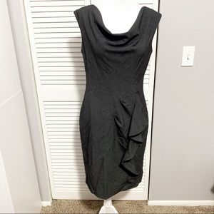 Calvin Klein Gray Sleeveless Ruffle Dress
